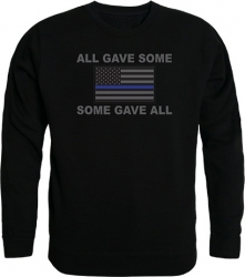 View Buying Options For The RapDom All Gave Some Thin Blue Line Flag Graphic Mens Crewneck Sweatshirt