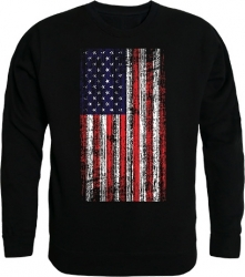 View Buying Options For The RapDom Distressed US Flag Graphic Mens Crewneck Sweatshirt