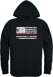 View Buying Options For The RapDom Thin Red Line Flag Graphic Mens Pullover Hoodie