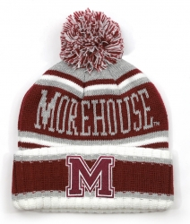 View Buying Options For The Big Boy Morehouse Maroon Tigers S51 Mens Cuff Beanie Cap with Ball