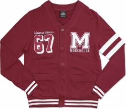 View Buying Options For The Big Boy Morehouse Maroon Tigers Mens Lightweight Cardigan