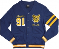 View Buying Options For The Big Boy North Carolina A&T Aggies Mens Lightweight Cardigan