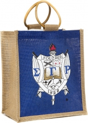 View Buying Options For The Sigma Gamma Rho Crest Ladies Mini Jute Gift Bag
