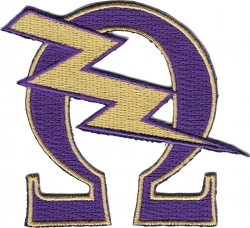 View Buying Options For The Omega Psi Phi Que Lightning Bolt Iron-On Patch