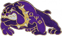 View Product Detials For The Omega Psi Phi Bulldog Iron-On Patch