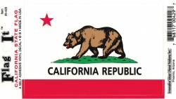 View Buying Options For The California State Flag Car Decal Sticker [Pre-Pack]