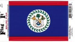 View Buying Options For The Belize Flag Car Decal Sticker [Pre-Pack]
