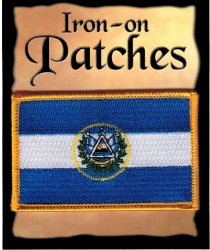 View Buying Options For The El Salvador Flag Iron-On Patch [Pre-Pack]