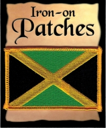 View Buying Options For The Jamaica Flag Iron-On Patch [Pre-Pack]