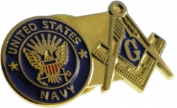View Buying Options For The US Navy + Mason Double Duty Lapel Pin
