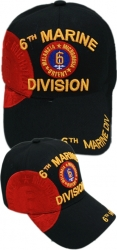 View Buying Options For The 6th Marine Division Logo Emblem Shadow Mens Cap