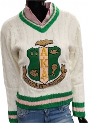 View Buying Options For The Alpha Kappa Alpha Crest Sorority Ladies V-Neck Sweater