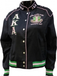 View Buying Options For The Alpha Kappa Alpha Sorority Ladies NASCAR Twill Jacket