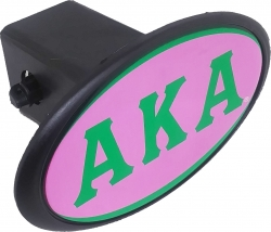 View Buying Options For The Alpha Kappa Alpha Mirror Domed Trailer Hitch Cover