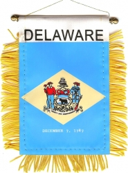 View Buying Options For The Delaware State Flag Car Mini Banner