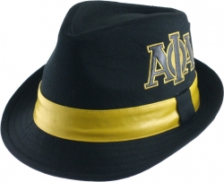 View Buying Options For The Alpha Phi Alpha Divine 9 Leather Band Fedora Mens Cap