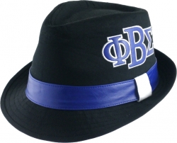View Buying Options For The Phi Beta Sigma Divine 9 Leather Band Fedora Mens Cap