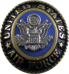 View Buying Options For The United States Air Force 3D Symbol Oval Lapel Pin