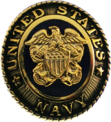 View Buying Options For The United States Navy 3D Shield Crest Symbol Oval Lapel Pin