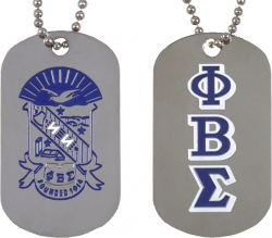 View Buying Options For The Phi Beta Sigma Double Sided Dog Tag