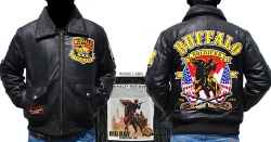 View Buying Options For The Big Boy Buffalo Soldiers Commemorative S3 Mens Leather Bomber Jacket