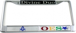 View Buying Options For The Mason + Eastern Star Divine Duo Split License Plate Frame