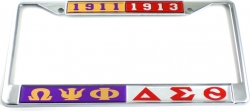 View Buying Options For The Omega Psi Phi + Delta Sigma Theta Founding Year Split License Plate Frame