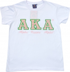 View Buying Options For The Alpha Kappa Alpha Script Applique Ladies Tee