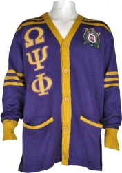View Buying Options For The Omega Psi Phi Fraternity Mens Cardigan Sweater