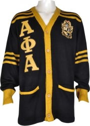 View Buying Options For The Alpha Phi Alpha Fraternity Mens Cardigan Sweater