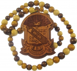 View Buying Options For The Phi Beta Sigma Laser Engraved Shield Wood Bead Tiki Necklace