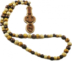 View Buying Options For The Iota Phi Theta Wood Bead Tiki Raised Medallion Necklace