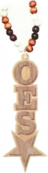View Buying Options For The Eastern Star Wood Bead Tiki Raised Symbol Medallion Necklace