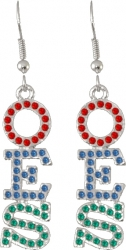 View Buying Options For The Eastern Star Crystal Ladies Earrings