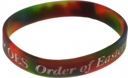 View Buying Options For The Eastern Star Tri-Color Swirl Silicone Bracelet [Pre-Pack]