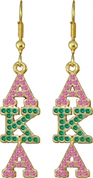 View Buying Options For The Alpha Kappa Alpha Drop Letter Crystal Ladies Earrings