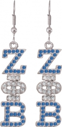 View Buying Options For The Zeta Phi Beta Drop Letter Crystal Ladies Earrings