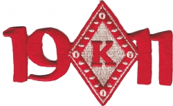 View Buying Options For The Kappa Alpha Psi 1911 Diamond Mascot Iron-On Patch