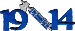 View Buying Options For The Phi Beta Sigma 1914 Hatchet Axe Mascot Iron-On Patch