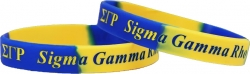 View Buying Options For The Sigma Gamma Rho Color Swirl Silicone Bracelet [Pre-Pack]