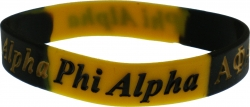 View Buying Options For The Alpha Phi Alpha Color Swirl Silicone Bracelet [Pre-Pack]