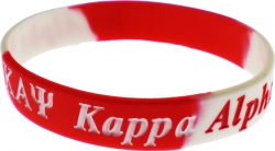 View Buying Options For The Kappa Alpha Psi Color Swirl Silicone Bracelet [Pre-Pack]