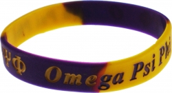View Buying Options For The Omega Psi Phi Color Swirl Silicone Bracelet [Pre-Pack]