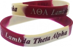 View Buying Options For The Lambda Theta Alpha Color Swirl Silicone Bracelet [Pre-Pack]