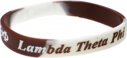 View Buying Options For The Lambda Theta Phi Color Swirl Silicone Bracelet [Pre-Pack]