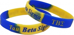 View Buying Options For The Tau Beta Sigma Color Swirl Silicone Bracelet [Pre-Pack]