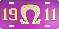 View Buying Options For The Omega Psi Phi 1911 Big Q 20 Pearls Mirror License Plate