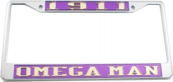 View Buying Options For The Omega Psi Phi 1911 Omega Man License Plate Frame