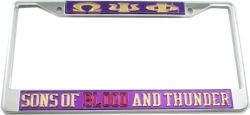 View Buying Options For The Omega Psi Phi Sons of Blood and Thunder License Plate Frame