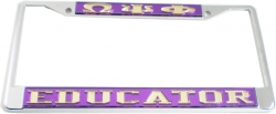 View Buying Options For The Omega Psi Phi Educator License Plate Frame